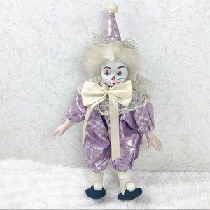 Brinns 1990 porcelain jester clown doll